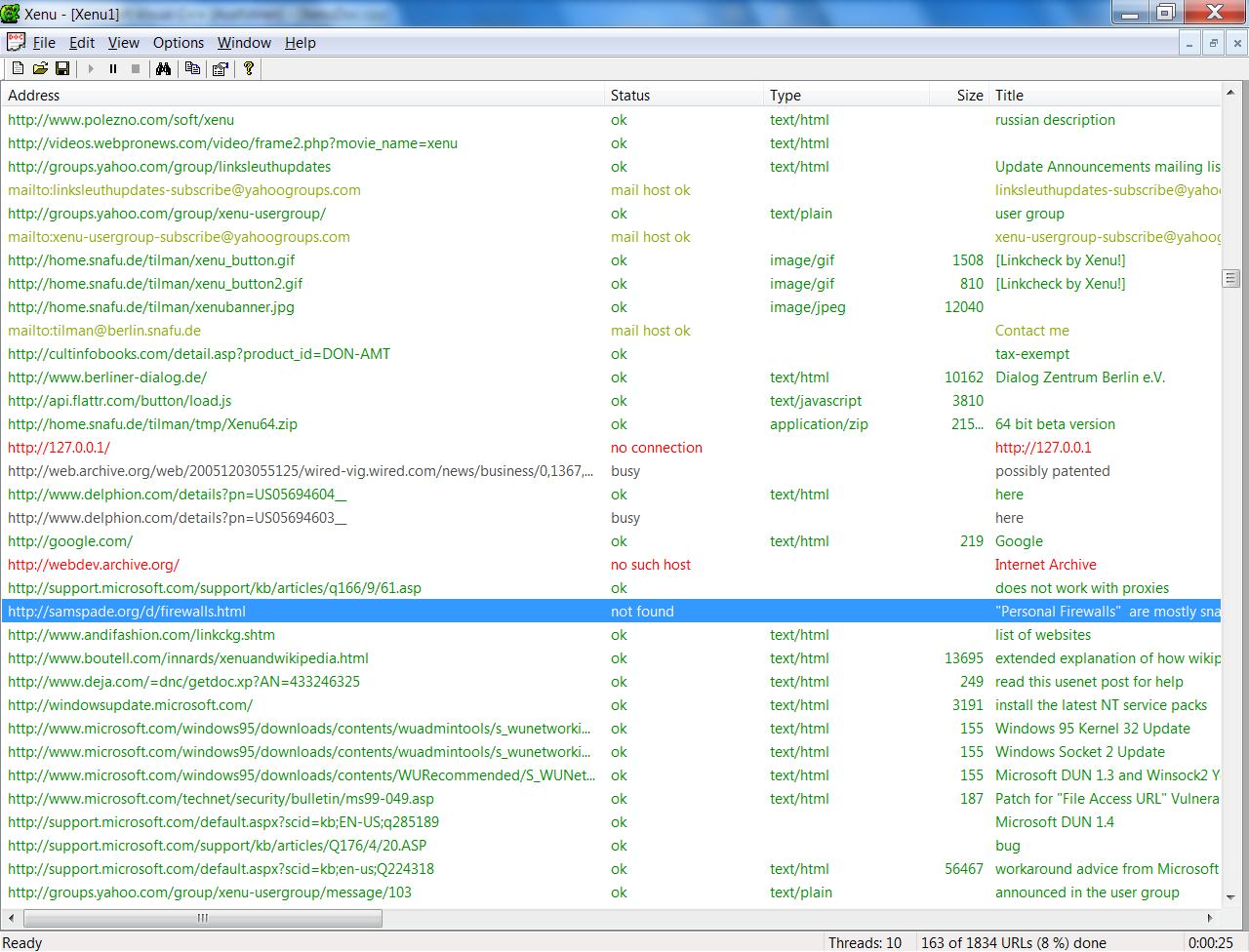 xenu программа для поиска битых ссылок