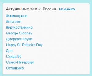 Тренды в России