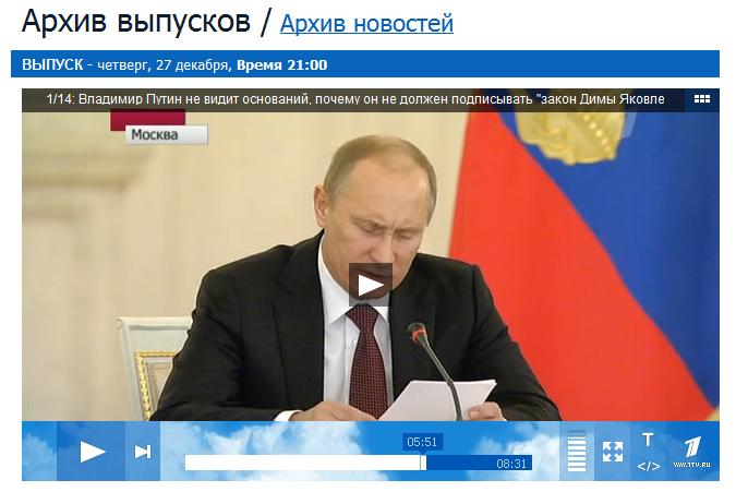 Путин. Выступление 27 декабря 2012